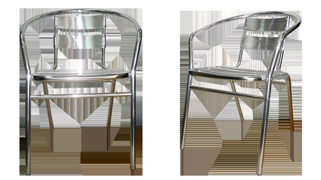 Silla de aluminio asia muebles para negocios alfa for Muebles de asia